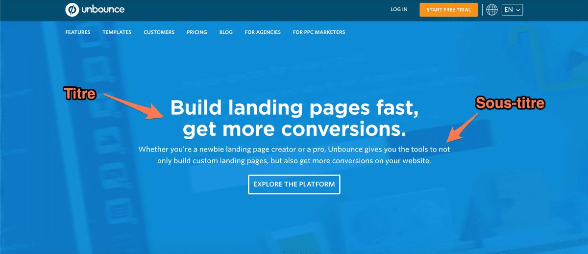 909da97b418 Unbounce ne fournit pas seulement un outil pour créer des landing pages  personnalisées