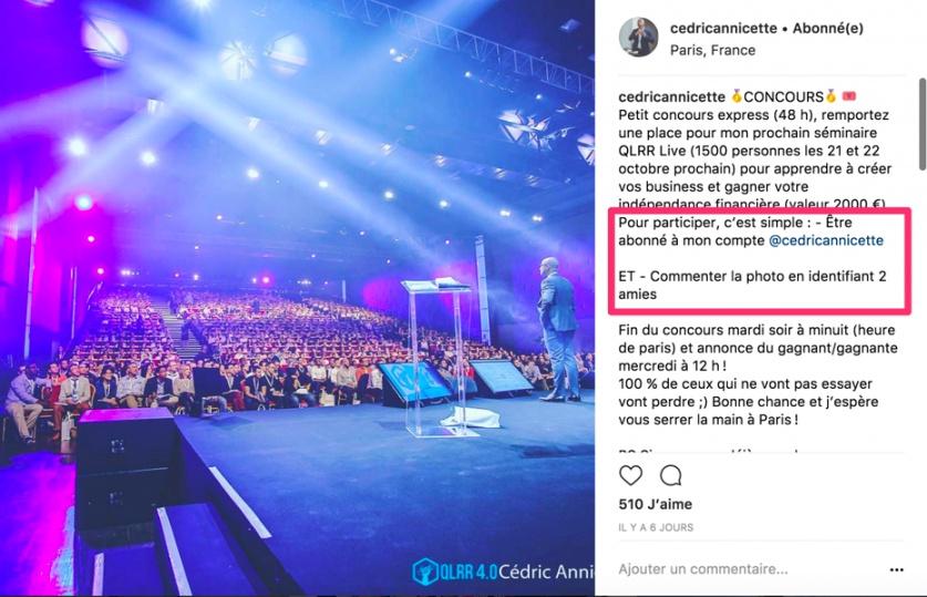 2dad9e4e1e46 Il se sert de cet évènement phare pour obtenir de nouveaux fans sur son  compte Instagram.