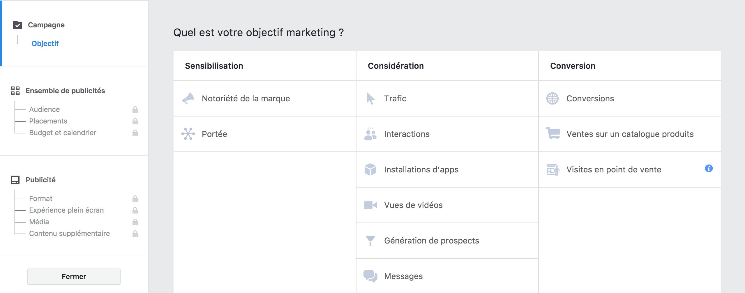Facebook Vous Laisse Choisir Entre Plusieurs Objectifs Pour Instagram Avez Egalement Acces A Ces