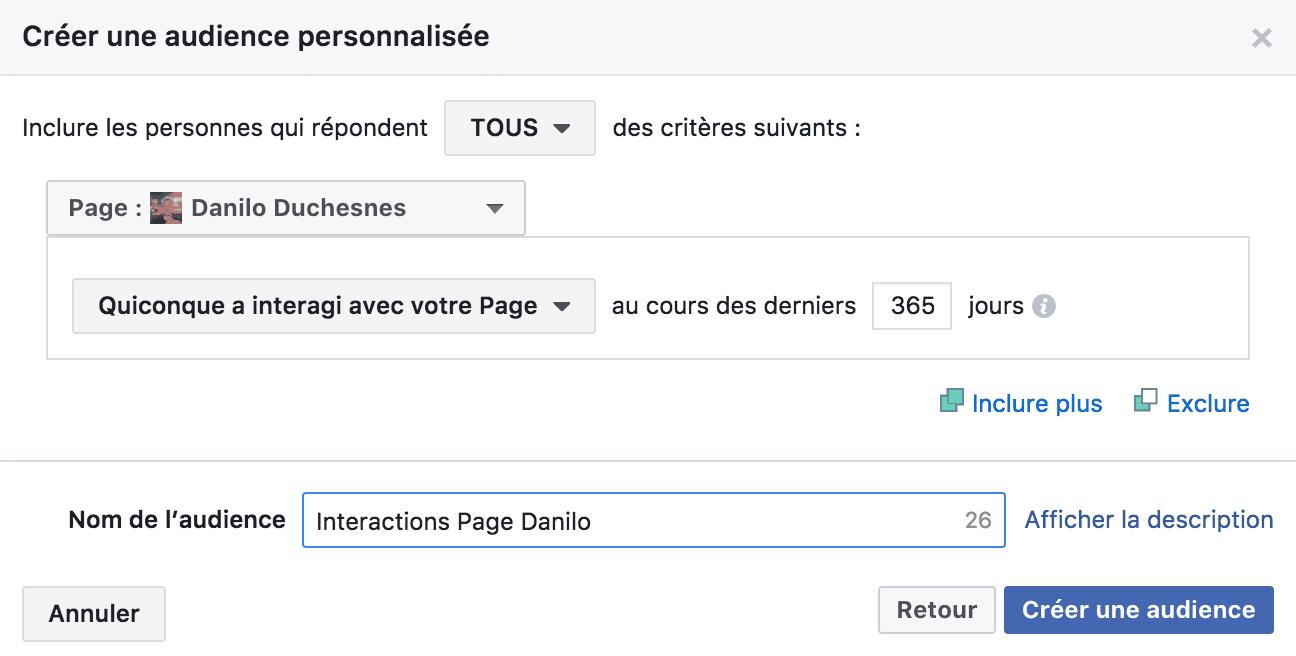 58b7f9b548f15c Attendez quelques minutes le temps que Facebook crée votre audience.