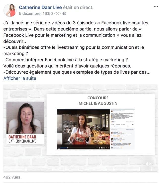 Catherine Daar s est positionnée en France comme spécialiste du Live sur  Facebook. Elle anime tous les mardis et jeudis des Lives Facebook où elle  commente ... d0a07748c0bb