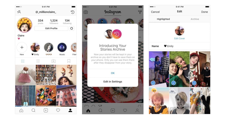 info for 07a1e 56856 Ce n est plus totalement vrai parce que maintenant vous pouvez les archiver  dans votre compte Instagram pour les revoir … et les ...
