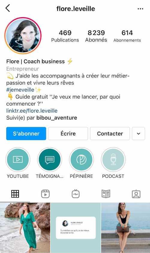 Promouvoir un contenu dans votre bio Instagram peut être une bonne idée