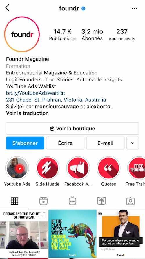 Créez une bio Instagram originale, mais qui parle à vos cibles
