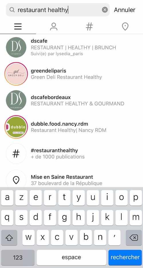 Votre nom d'utilisateur Instagram permet de référencer votre profil sur la plateforme