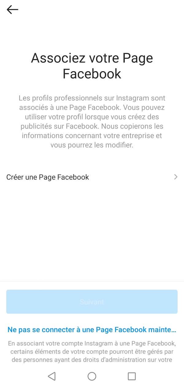 Associez votre compte Facebook Business à votre compte Instagram