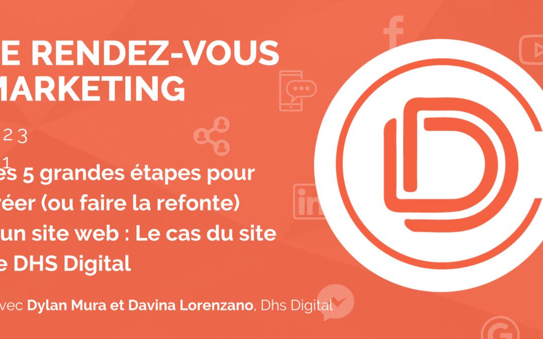 #23 – Les 5 grandes étapes pour créer (ou faire la refonte) d'un site web : Le cas du site de DHS Digital avec Dylan Mura et Davina Lorenzano